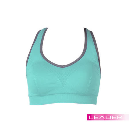 【Leader】女性專用 機能壓縮可拆胸墊運動背心 (亮綠色)