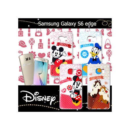 迪士尼授權正版 三星 Samsung Galaxy S6 edge G9250 休閒點點透明軟式保護套 手機殼 (經典組)