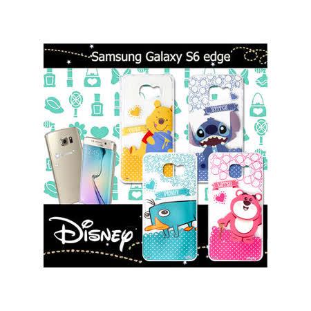 迪士尼授權正版 三星 Samsung Galaxy S6 edge G9250 休閒點點透明軟式保護套 手機殼 (新秀組)