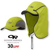 【美國 Outdoor Research 】SUN RUNNER CAP™ UPF30 抗紫外線透氣護頸帽/抗UV防曬後遮 鴨舌帽.跑步帽.棒球帽.擋片可拆_草綠 OR80610