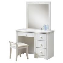 HAPPYHOME 維格白色3.3尺化妝台-含椅子641-5