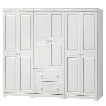HAPPYHOME 維格白色8尺衣櫃642-1