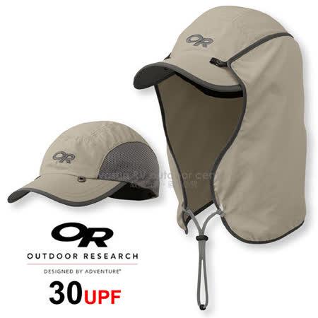 【美國 Outdoor Research 】SUN RUNNER CAP™ UPF30 抗紫外線透氣護頸帽/抗UV防曬後遮 鴨舌帽.跑步帽.棒球帽.擋片可拆_卡其 OR80610