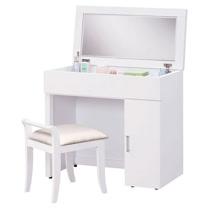 HAPPYHOME 雅美佳2.7尺白色掀鏡化妝台-含椅子653-7