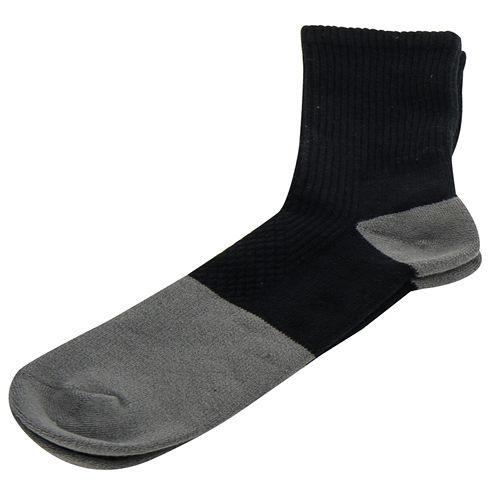 【KEROPPA】可諾帕竹碳運動型健康女襪x2雙C90013-黑配灰