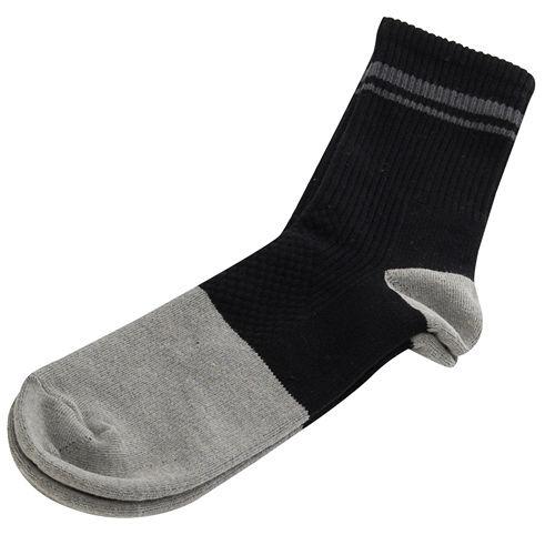 【KEROPPA】可諾帕竹碳運動型健康女襪x2雙C90013-黑配深灰條