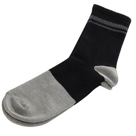 【KEROPPA】可諾帕竹碳運動型健康男襪x2雙C90013-黑配深灰條