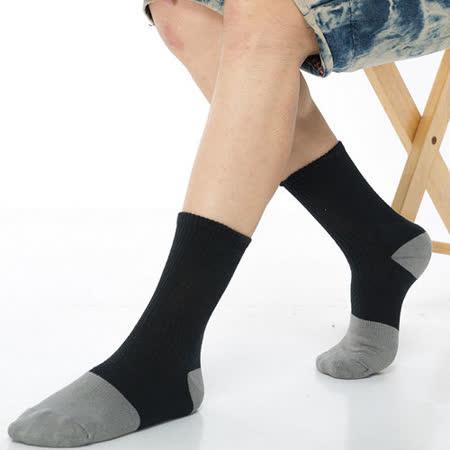 【KEROPPA】可諾帕竹碳運動型健康男襪x2雙C90013-黑配灰