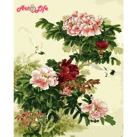 【ArtLife】創意油畫、數字油畫DIY_(牡丹花開)