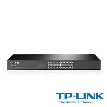 TP-LINK TL-SF1016 16 埠 10/100Mbps 機架裝載交換器
