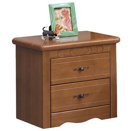 HAPPYHOME 伊琳諾樟木色1.7尺床頭櫃681-2