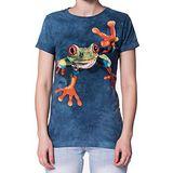 【摩達客】(預購)美國進口The Mountain   勝利蛙 短袖女長版T恤精梳棉環保染
