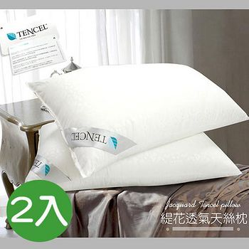 精靈工廠 TENCEL天絲緹花透氣天絲枕 2入-B0591