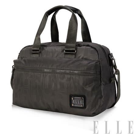 ELLE 法式優雅休閒 輕細尼龍防潑水 手提/側背包款-優雅灰EL82341-09