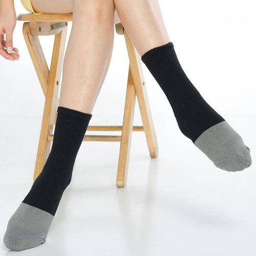 【KEROPPA】可諾帕竹碳運動型健康女襪x2雙C90014-黑配灰