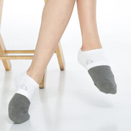 【KEROPPA】可諾帕竹碳氣墊船襪Cx3雙(男女適用)C90015-白