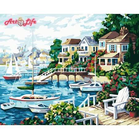 【ArtLife】創意油畫、數字油畫DIY_(陽光海岸)