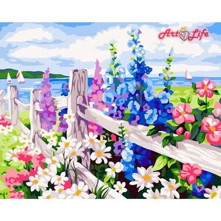 【ArtLife】創意油畫、數字油畫DIY_(花海)
