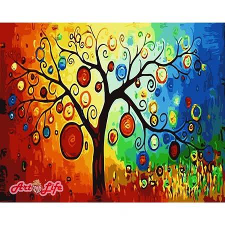 【ArtLife】創意油畫、數字油畫DIY_(發財樹)