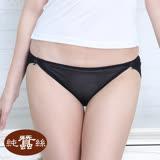 【岱妮蠶絲】DA0119E純蠶絲42針70G拼接低腰高衩內褲 (黑色)