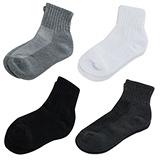 【KEROPPA】可諾帕細針毛巾底7比1氣墊1/2男襪x綜合4雙C91003-A