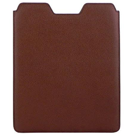 BALLY 牛皮壓紋iPad保護套(咖啡棕色)