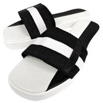 BALLY 黑白織帶厚底涼鞋-39.5號