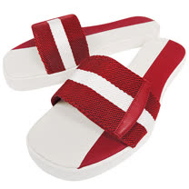 BALLY 紅白織帶厚底涼鞋-38號