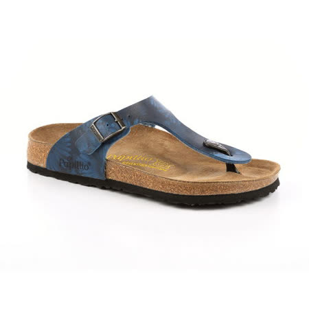 勃肯Papillio 143241。GIZEH吉薩 夾腳拖鞋(藍底花)