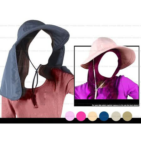 【SNOW TRAVEL】吸濕排汗抗紫外線可拆式護頸二用帽.超輕量遮陽帽.漁夫帽.貴婦帽.大盤帽/防曬/可折疊收納/大寬帽沿/AH-10