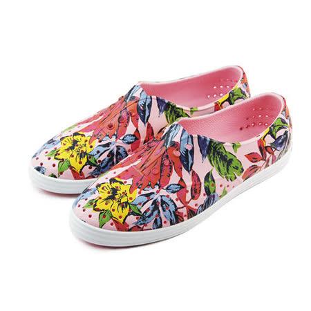 (女)native JERICHO 懶人鞋 粉紅/花卉-004018092