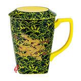 【鹿港窯】茶具浮雕-富貴金龍-蓋杯(瓷器)