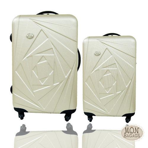 MON BAGAGE 花開富貴ABS輕硬殼28+20吋兩件組旅行箱/亞 東 電子 商務行李箱