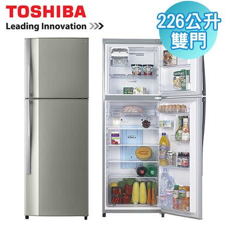 [促銷] TOSHIBA東芝 226公升雙門電冰箱(GR-S24TPB)含基本運送+拆箱定位+回收舊機