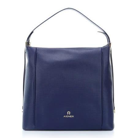 【好物分享】gohappy 線上快樂購AIGNER ALBA系列 肩背包-M-藍去哪買遠 百 禮券