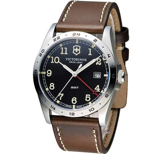 Victorinox 維氏 步兵系列兩地時間GMT腕錶 VISA~241648
