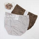 【岱妮蠶絲】DA0119G純蠶絲42針90G拼接低腰高衩內褲 (銀灰)