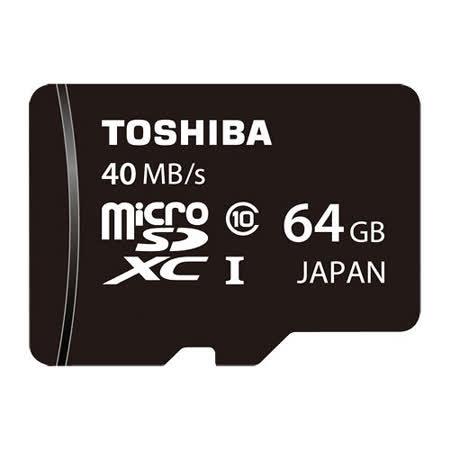 TOSHIBA 64GB microSDXC UHS-I 40MB/s超高速卡(公司貨)