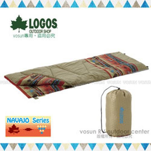 ~ LOGOS~印地安丸洗化纖睡袋6℃ ^(人造羽絨^)楓葉民族風.中空纖維棉.化纖可機洗