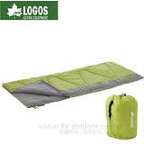 【日本 LOGOS】丸洗睡袋2℃.中空纖維棉.化纖可機洗/透氣保暖/果綠 72600630