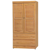 HAPPYHOME 富丞赤陽色3x6尺衣櫥733-2