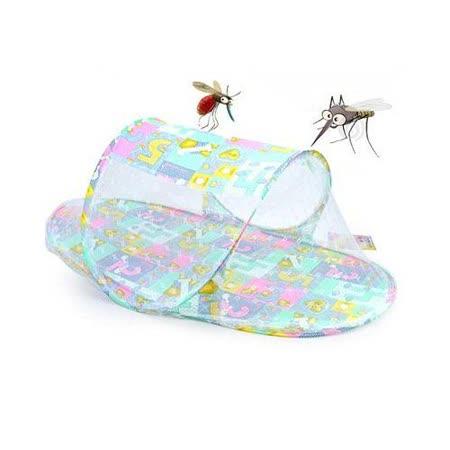 父母小幫手 嬰兒戶外防護罩 可攜式加大嬰兒船型蚊帳 (便攜式可折疊)