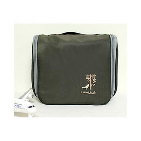 【iSFun】旅行專用*防水掛勾盥洗包/綠