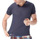 MORINO 吸汗速乾短袖V領衫(M~XL)