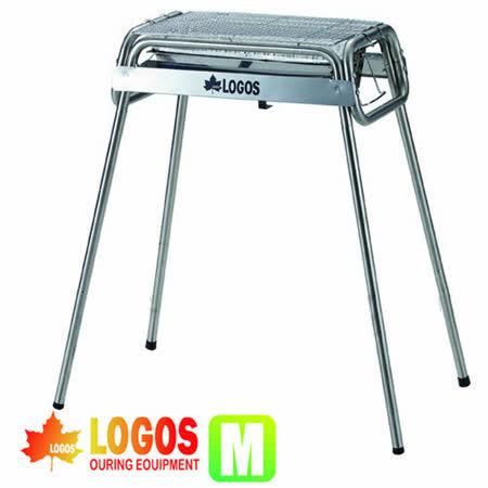 【日本 LOGOS】Smart80不鏽鋼BBQ烤爐(M/附烤盤)/烤肉架.贈鋁箔炭盆_ 81065500