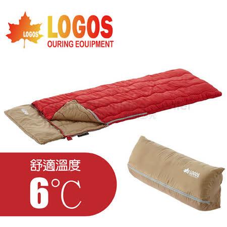 【日本 LOGOS】愛麗絲丸洗寢袋 /抱枕收納型睡袋_ 72600790