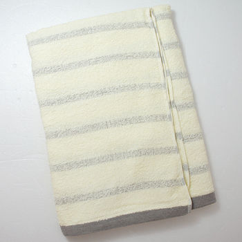 TELITA 粉彩竹炭條紋浴巾(68*132cm)