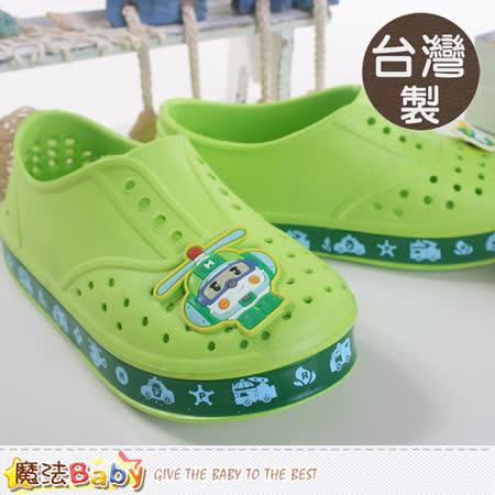 魔法Baby~台灣製POLI正版兒童水陸輕便鞋 sa51505