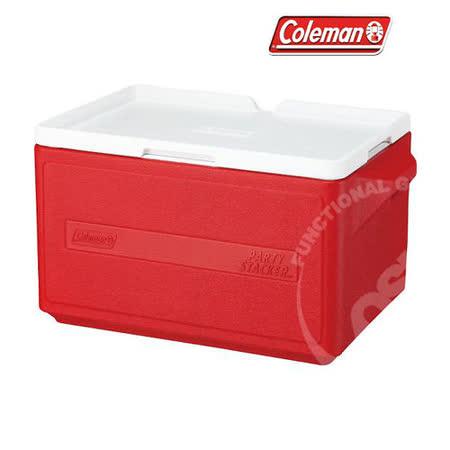 【美國 Coleman】 31L置物型冰桶(原廠公司貨).保冷冰箱.行動冰箱/ 紅_CM-1329