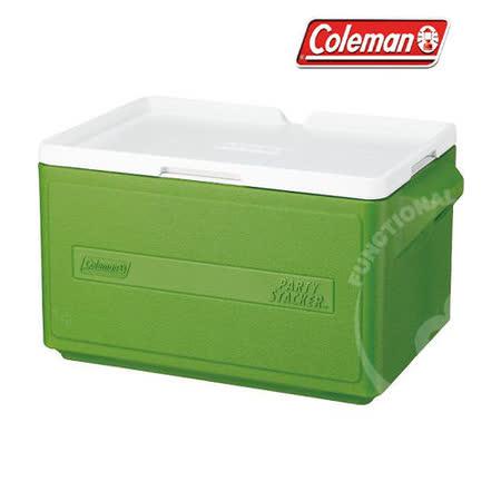 【美國 Coleman】 31L置物型冰桶(原廠公司貨).保冷冰箱.行動冰箱.冰箱/ 綠_CM-1331